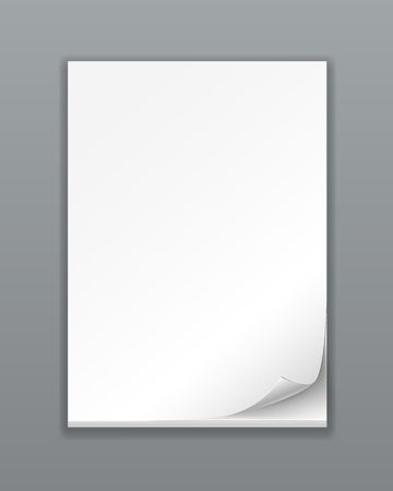 Vector Empty Paper Stack on white background Stock Vector - 22787248