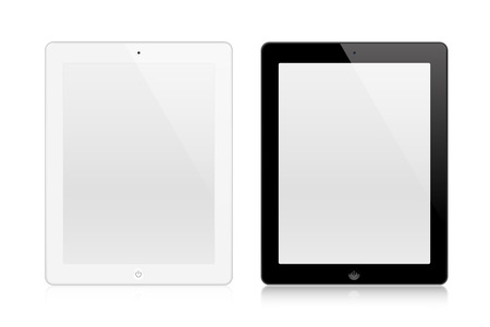 tabletpc: Tablets In New Ipade Style isolated on white background