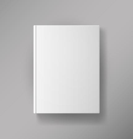 벡터 흰색 배경에 고립 된 빈 책 표지 일러스트