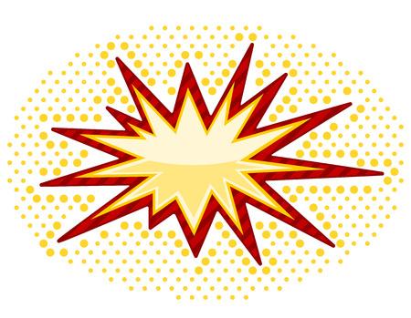 bursting: Vector Bursting icon isolated on white background