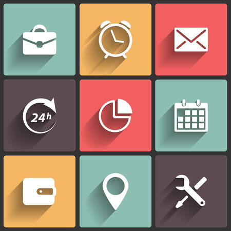 Application Icons in Flat Design for Web and Mobile Stock Vector - 23902594