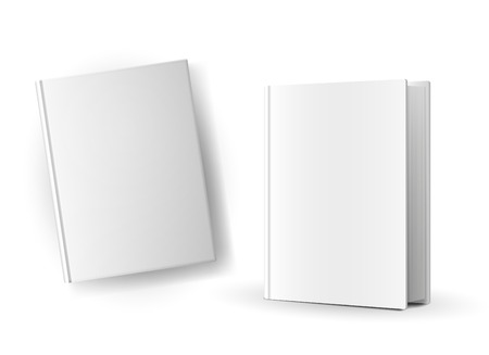 Blank book covers over white background Illustration Vector