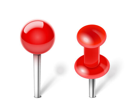 push pin: Vector Red Push pin for note paper Illustration