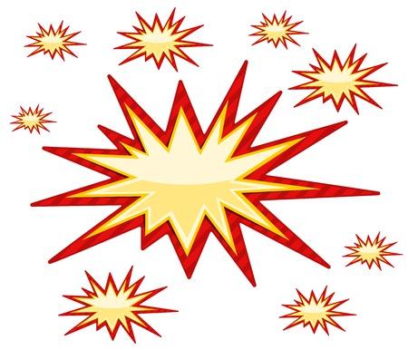 starburs: Entrar Burst sobre fondo blanco Ilustraci�n vectorial