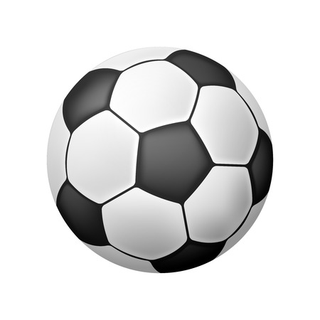 soccer ball: Vector Isolated Realistic Soccer Ball over white