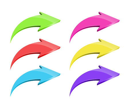 Set of vector colorful arrows on white background Stock Vector - 25252144
