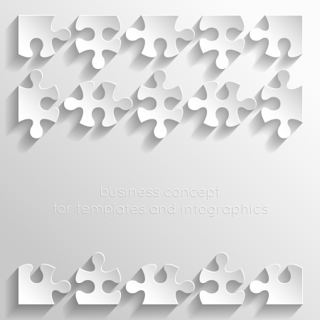 puzzle pieces: Paper puzzles for business concept, templates and infographics Illustration