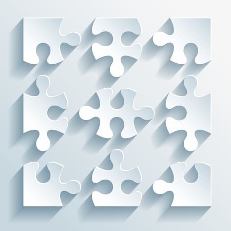 Paper puzzles for business and infographics Vector Illustration Stock Vector - 25253588