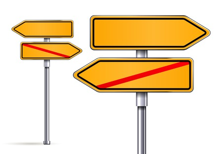 blank signs pointing in opposite directions vector illustrarion Stock Vector - 25253590