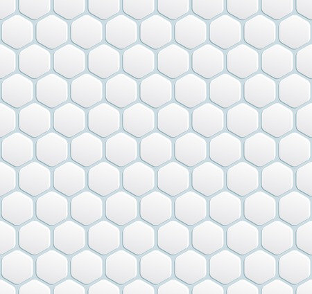 vector seamless modern white with hexagon Stock Vector - 25503586