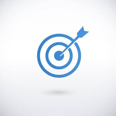 compromiso: lograr el objetivo plantilla de ilustración vectorial