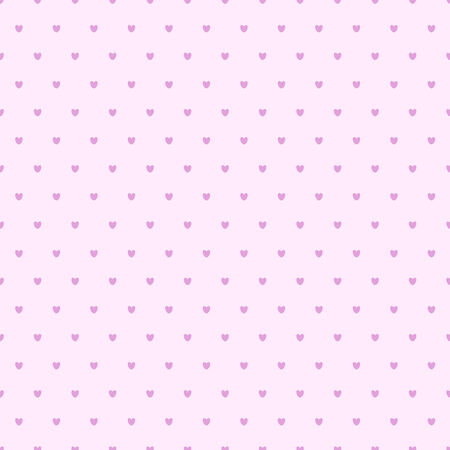 seamless hearts polka dot pattern pink vector illustration Stock Vector - 25983227