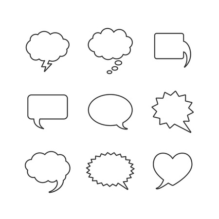 Vector Blank empty white speech bubbles shapes Stock Vector - 25996725
