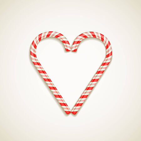 candy canes shape of heart vector illustration love concept Stock Vector - 25996747