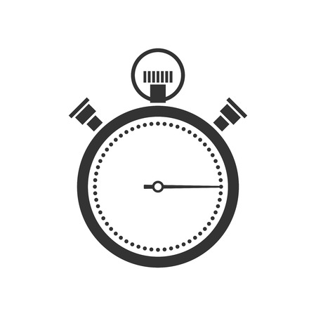 stopwatch or chronometer icon black silhouette on white background