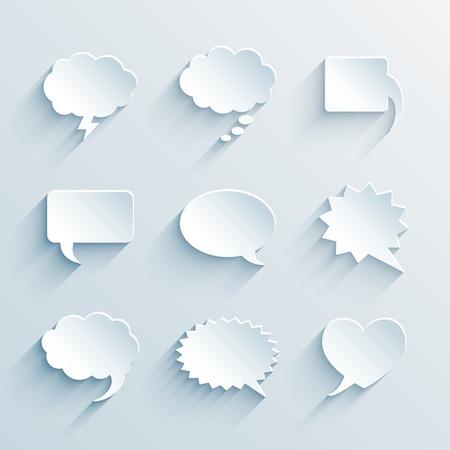 vector blank empty paper white speech bubbles Stock Vector - 25999694