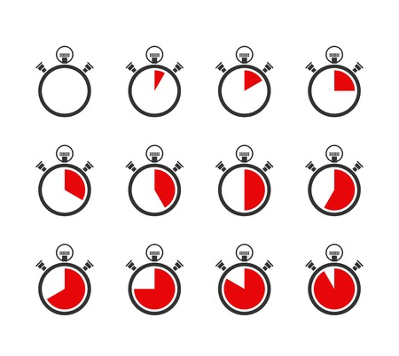 set of vector chronometers or timers icons Stock Vector - 25999714
