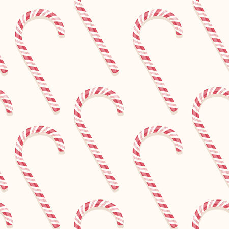 sweet holiday vector candy cane seamless pattern Vector