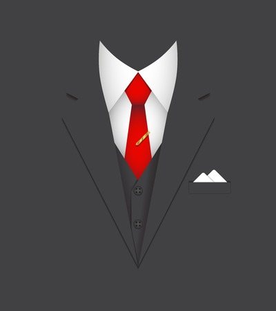 business suit  leader person poster concept vector illustration