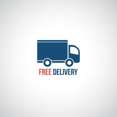 無料配信アイコン、ベクター シンボル車貨物を運ぶ