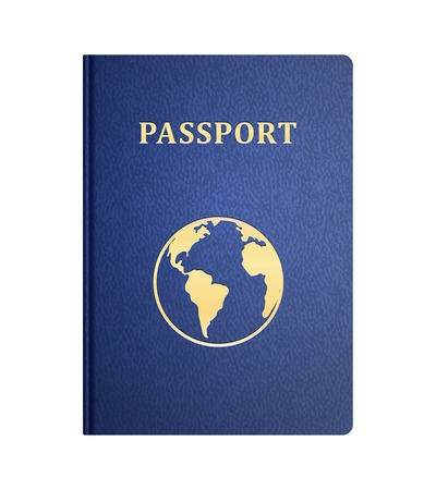 白い分離されたパスポートの表紙をベクトルします。  イラスト・ベクター素材