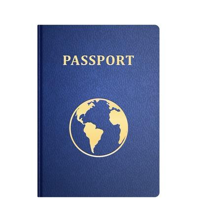 pasaporte: portada del pasaporte del vector aislado en blanco