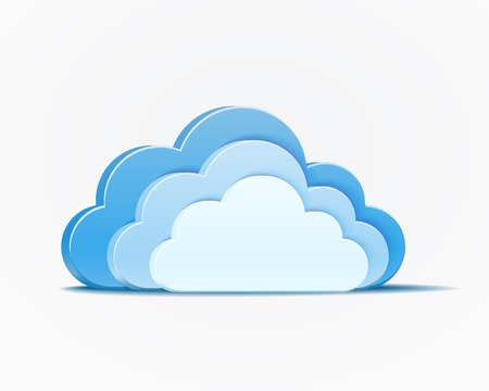 blue clouds: vector blue clouds infographics element on white background