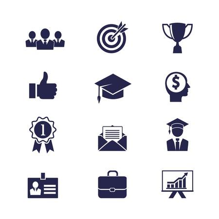 ベクトル ビジネス キャリア アイコンをウェブ アプリやアプリの設定します。