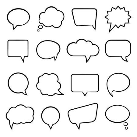 Blank empty speech bubbles for infographics vector illustration Vector
