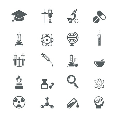retort: science icons on white for infographics, web and apps Illustration