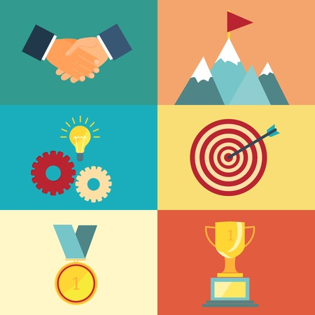 challenge: leadership and success illustration for presentations and websites in modern style