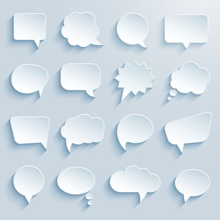 paper communication bubbles on white background vector eps10 illustration Vector