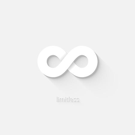 White infinity icon Vector