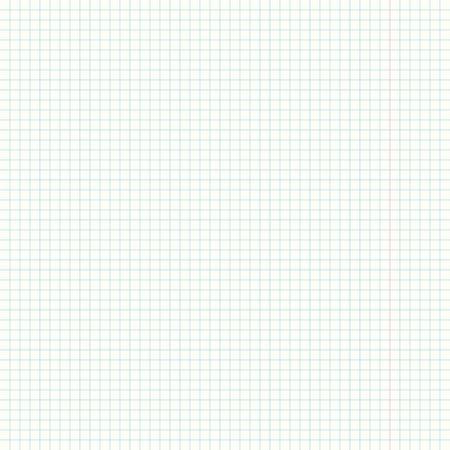 foglio a righe: Formato quadrato illustrazione di una pagina del quadrato bianco vuoto governato carta