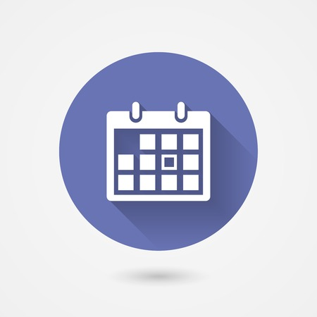 Calendar icon in a circular blue surround