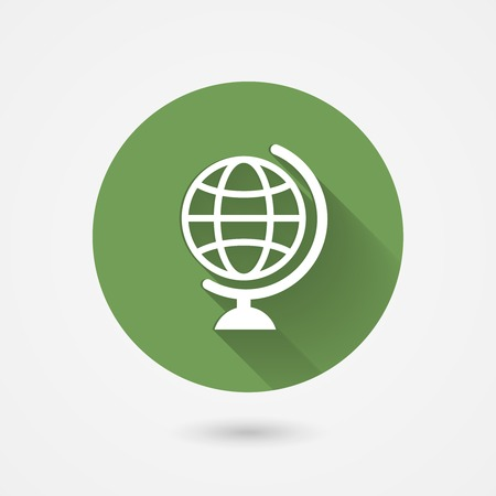Vector globe icon in flat style for web and mobile apps Vector