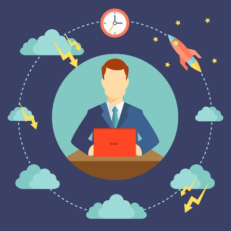 difficulties: dangers and difficulties of startup starting  Illustration