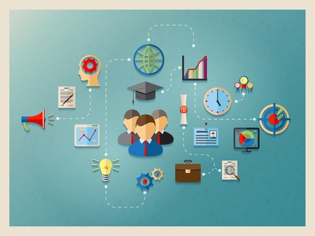 education and management in web, infographics element design template