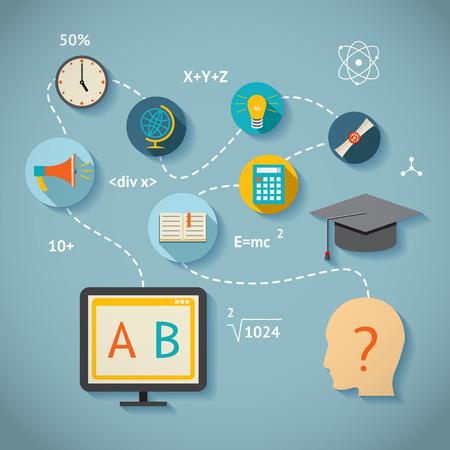 acquaintance: internet or web education infographics vector scheme