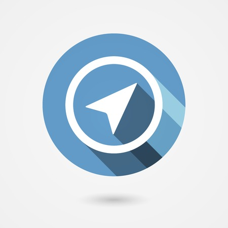 forwards: vector flat navigation arrow icon in circle