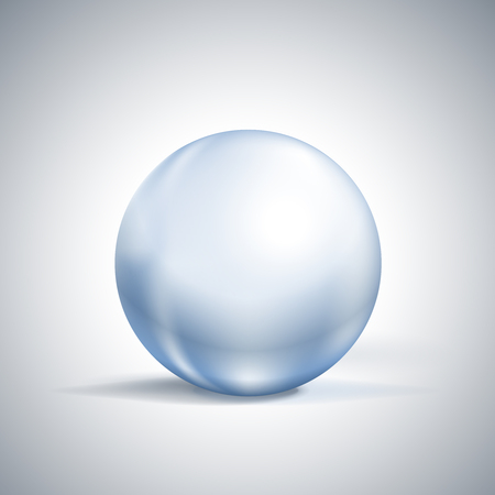 soothsayer: glossy glass sphere isolated on white