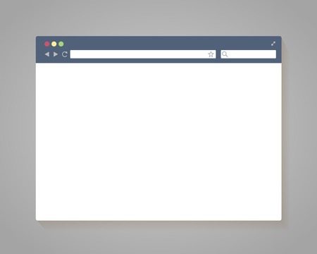 Vector Simple Browser Window in flat style Vector