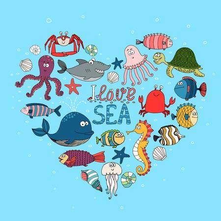 Sea nautical themed design Vector