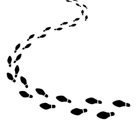 huellas de pies: Conjunto de huellas de zapatos