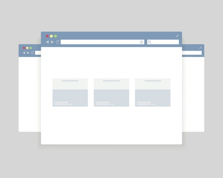 browser windows design for website presentation Vector