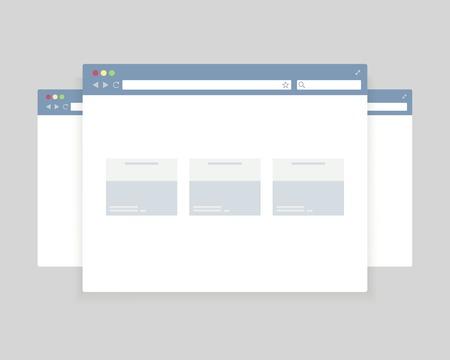 web サイトのプレゼンテーションをブラウザーの windows のデザイン