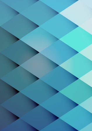 graduated: Retro hipster background pattern of graduated blue repeat diamonds or rhombs with shaded points giving a three dimensional effect  vector illustration