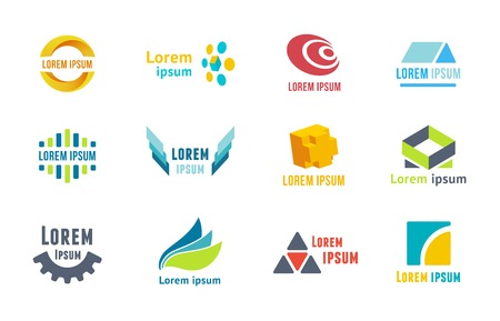 Business emblems icons on white background, editable vector illustration for your design Vector