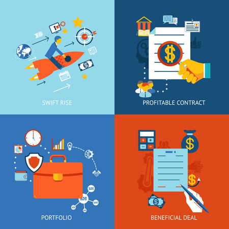 beneficial: Business concepts set for swift rise, profitable contract and beneficial deal