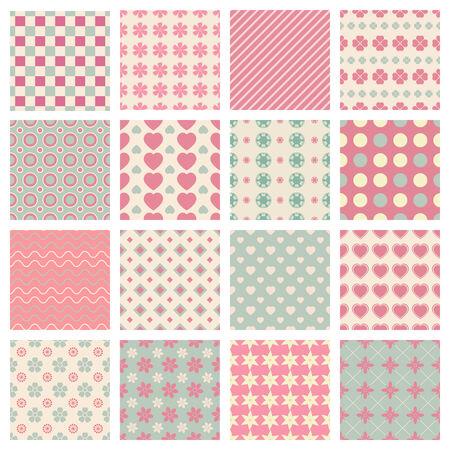 Vectorial Vector patrones transparentes lindos y de moda para los fondos de color Foto de archivo - 29022388